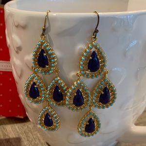 Stella & Dot chandelier earrings NIB